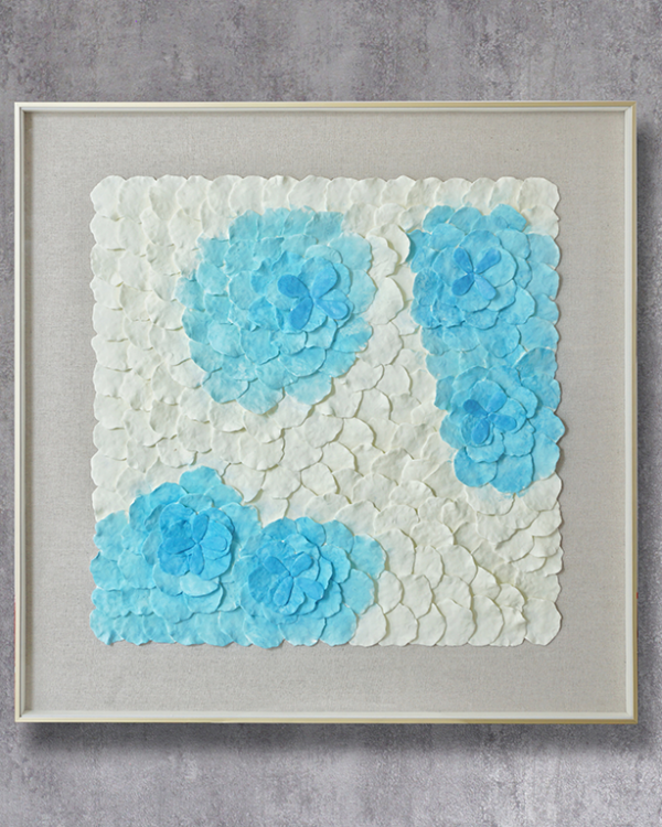 Bright & Blue Clay Art Wallpiece Wall Hangings