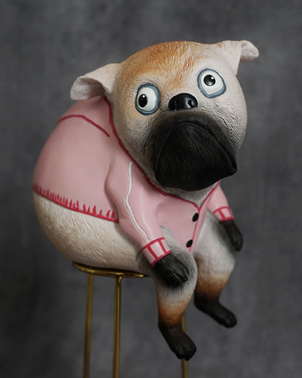 Adorable Pup Figurine Sculptures & Figurines