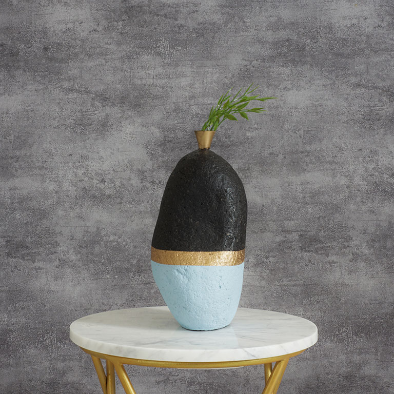Rock Carved Abstract Vase Vases