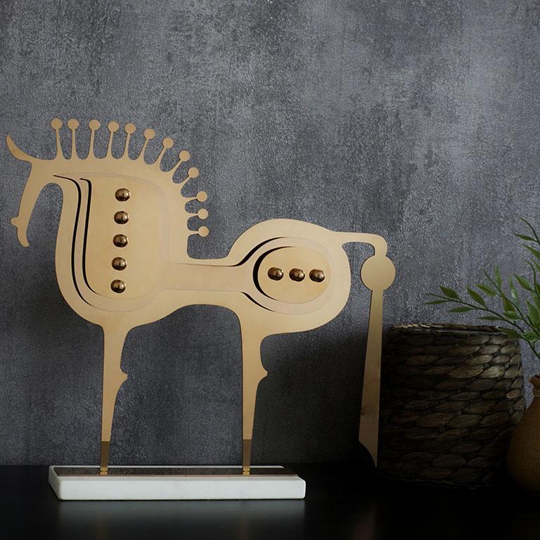 Trojan Horse Figurine Sculptures & Figurines
