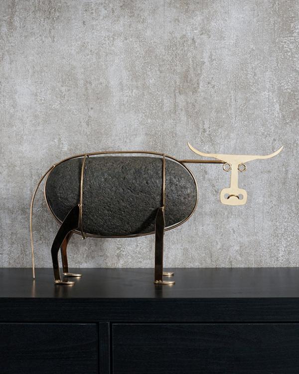 Ganado Bravo Bull Figurine Sculptures & Figurines