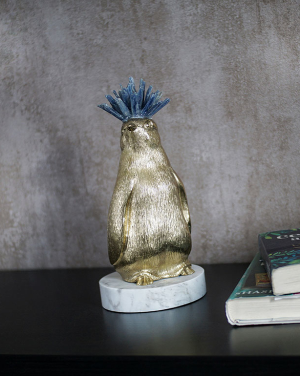 Crowned Penguin Figurine Sculptures & Figurines