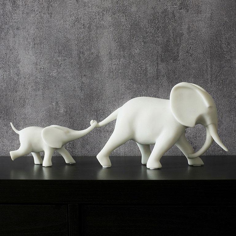 Nurturing Elephant Figurine Sculptures & Figurines