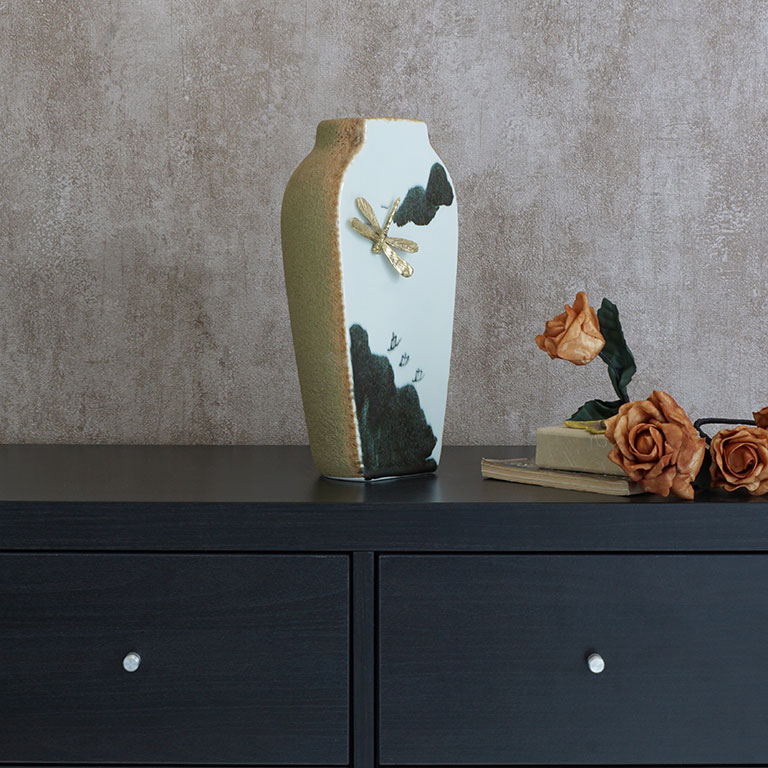 Golden Dragonfly Vase Vases