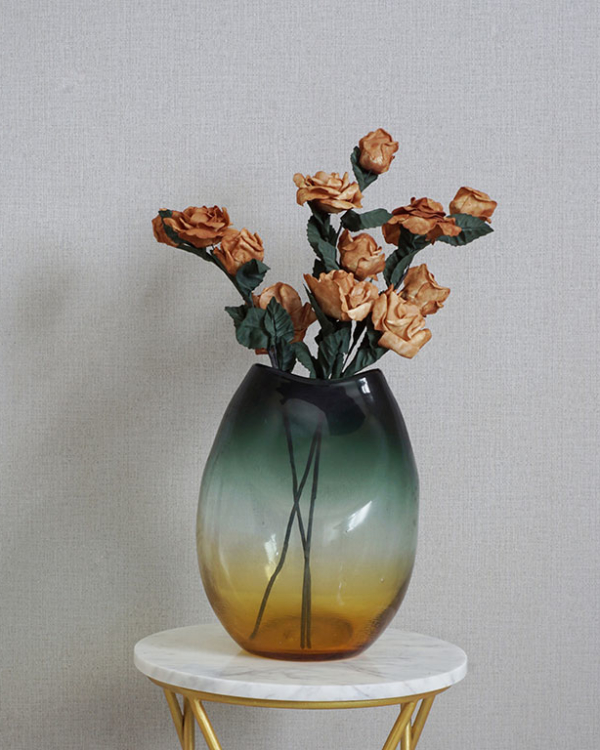 Glazed Fluid Vase Vases