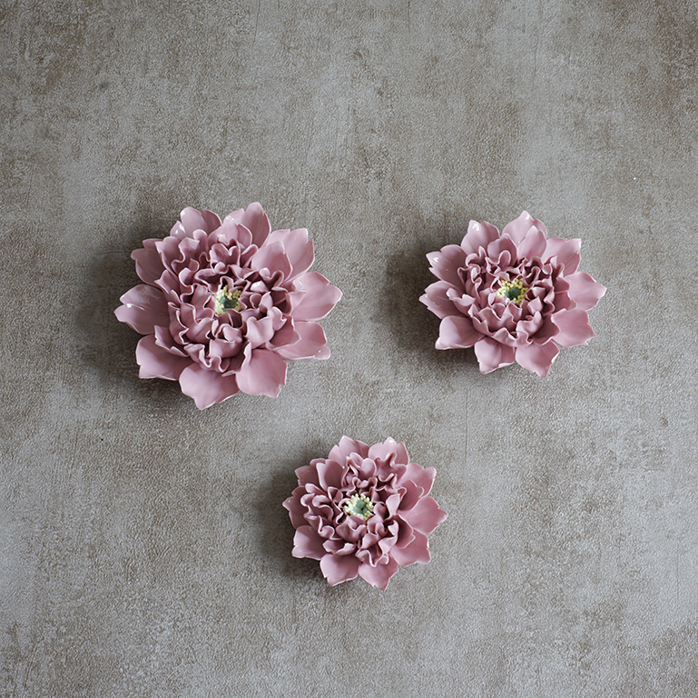 Blooming Flower Wallpiece (Set Of 3) Wall Hangings