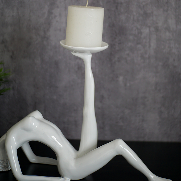 Outstretched Woman Candle Holder Candle Holders