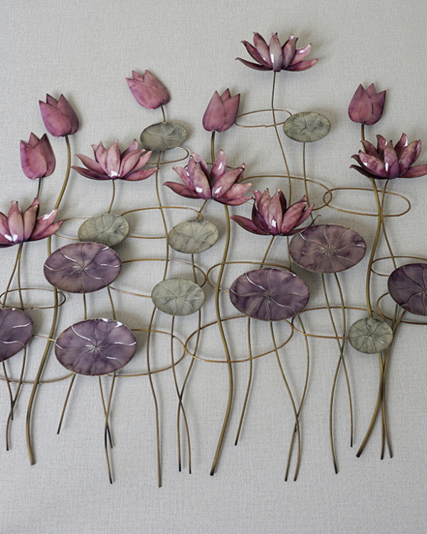 Blooming Lotus Wall Piece Wall Hangings