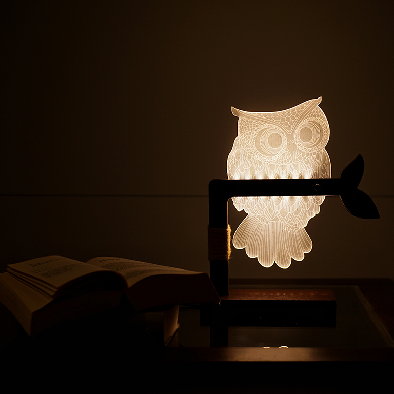 The Midnight Owl Lamp Table Lamps