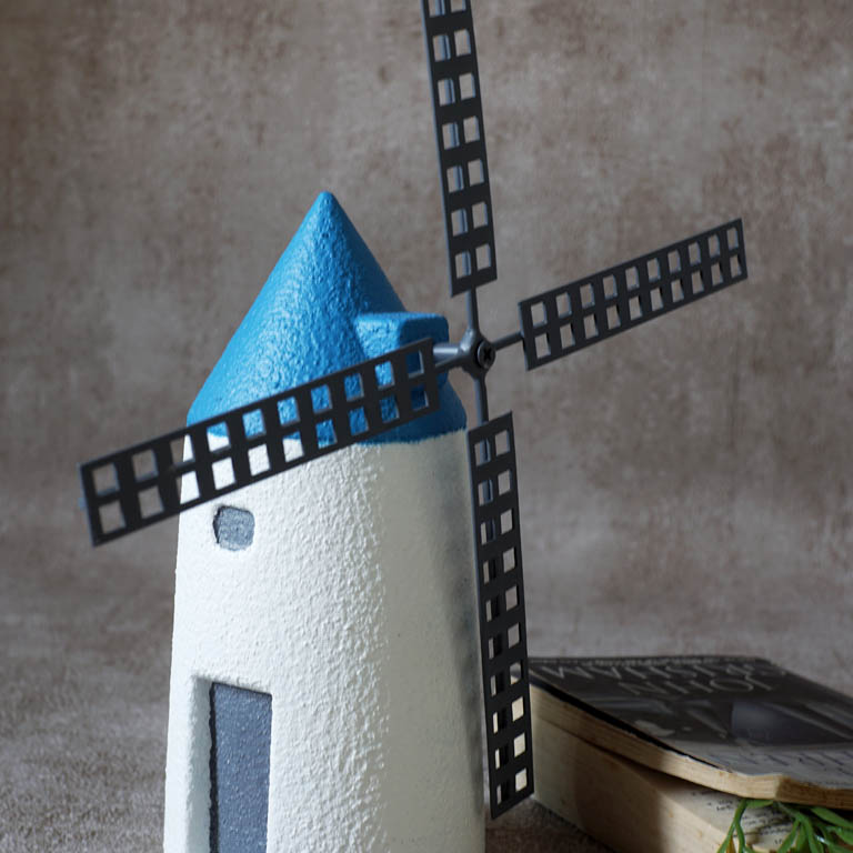 Windmill Cottage Figurine (L) Sculptures & Figurines