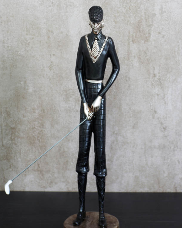 Club-And-Ball GolfMan Figurine Sculptures & Figurines