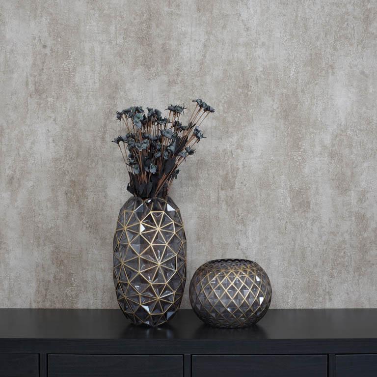 Hand Blown Lattice Vase Vases