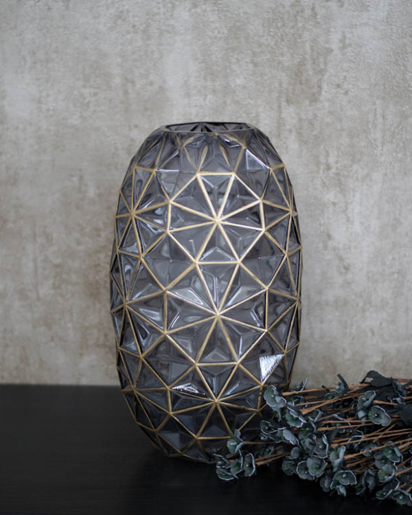 Hand Blown Lattice Vase Vases