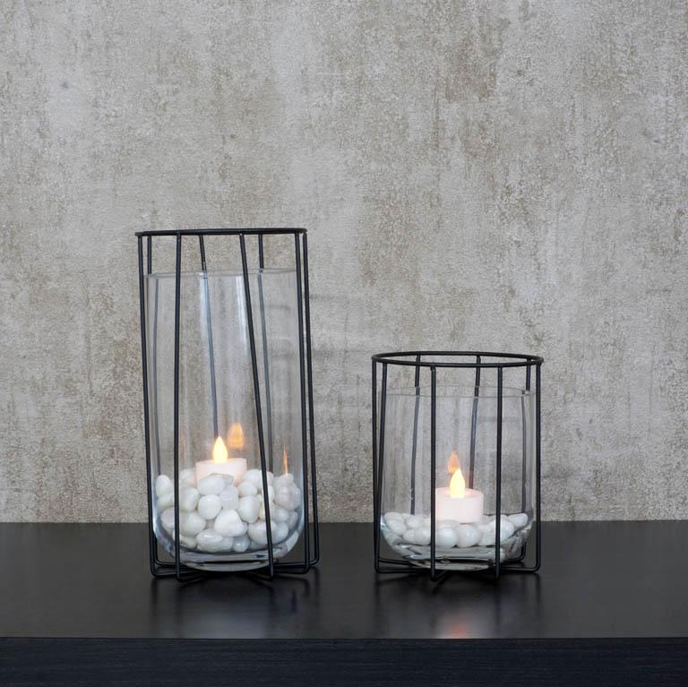 Black Cage Vase (L) Vases