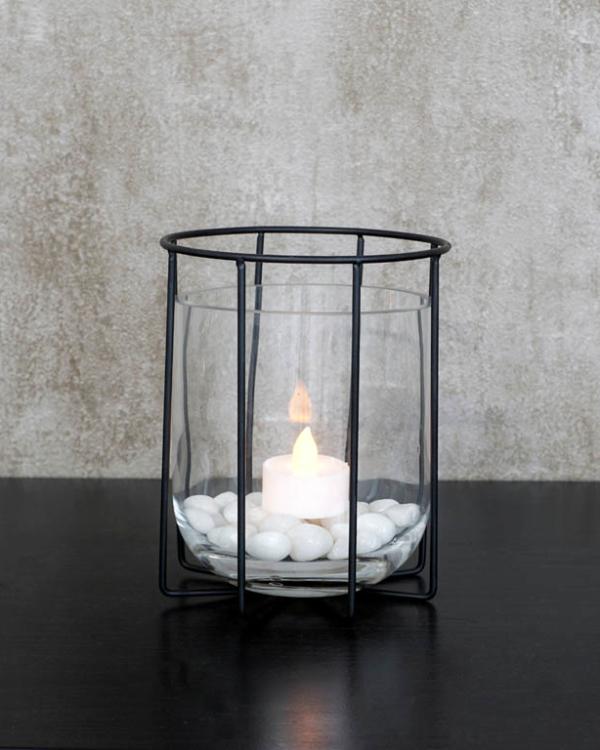 Black Cage Vase (S) Vases