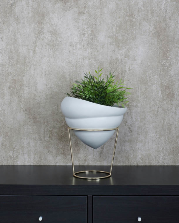 Grey Conical Vase Vases