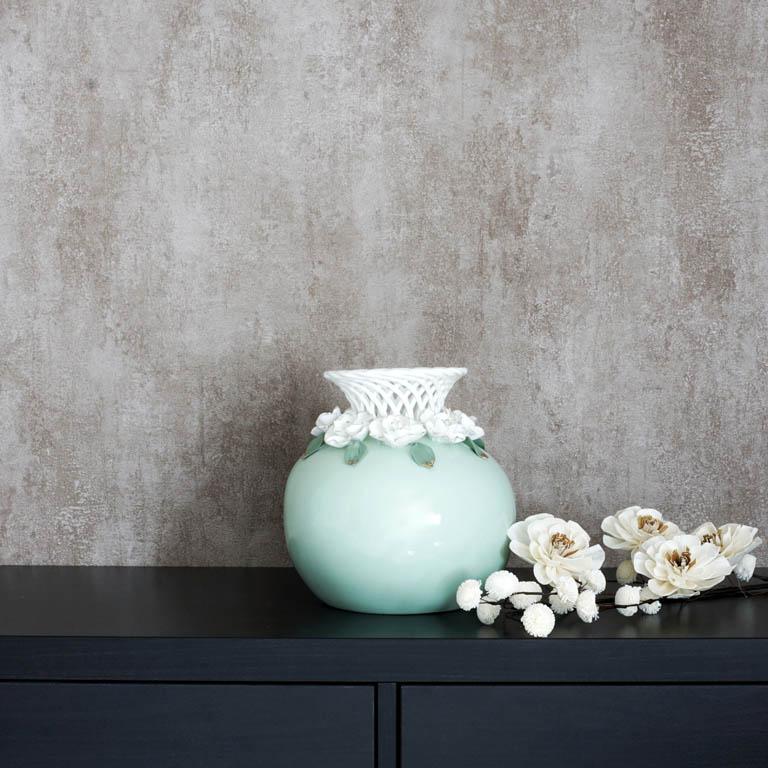 Floral Choker Vase Vases