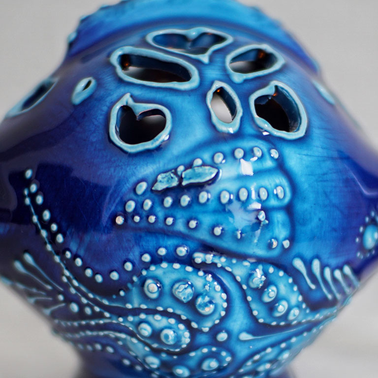 Turkish Hand Painted Fish Candleholder Exclusive Classics