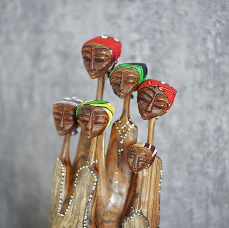 African Mozambique Handcrafted Family Figurines Exclusive Classics