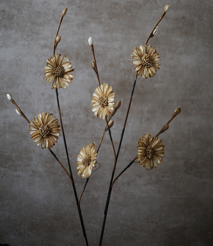 artificial flowers- golden