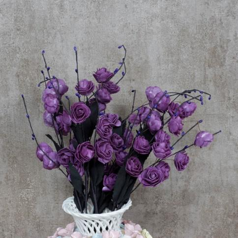 artificial flowers - purple